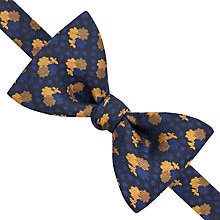 Buy Thomas Pink Colyton Self Tie Bow Tie, Black/Orange Online at johnlewis.com