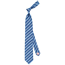 Buy Thomas Pink Heston Woven Striped Tie, Pale Blue/Blue Online at johnlewis.com