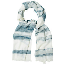 Buy White Stuff Hand Drawn Stripe Scarf, Multi Online at johnlewis.com