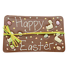 Buy Sarah Bunton 'Happy Easter' Milk Chocolate Slab Online at johnlewis.com