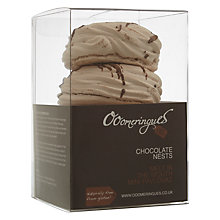Buy Ooomeringues Meringue Chocolate Nests, Dairy Free, Box of 4 Online at johnlewis.com
