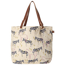 Buy White Stuff Cotton Canvas Zebra Print Shopper Bag, Multi Online at johnlewis.com