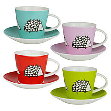 Buy Scion Spike the Hedgehog Espresso Cup & Saucer, Set of 4 Online at johnlewis.com