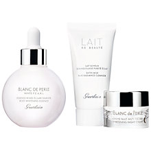 Buy Guerlain Blanc de Perle Esseence Skincare Gift Set Online at johnlewis.com