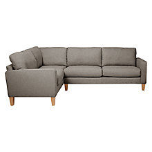 Buy John Lewis The Basics Jackson LHF Corner End Unit, Basics Dash Charcoal, Light Legs Online at johnlewis.com