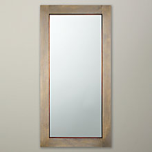 Buy John Lewis Asha Wall Mirror, Brown, 120 x 60cm Online at johnlewis.com