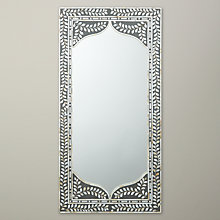 Buy John Lewis Mother of Pearl Square Mirror, Dark Grey, 120 x 60cm Online at johnlewis.com