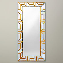 Buy John Lewis Verbier Full Length Wall Mirror, Gold Online at johnlewis.com