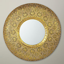 Buy Libra Filigree Mirror, Gold Online at johnlewis.com