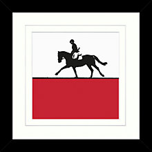 Buy Jacky Al-Samarraie - Horse Riding Framed Print, 34 x 34cm Online at johnlewis.com