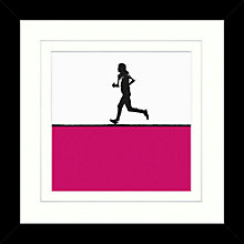 Buy Jacky Al-Samarraie - Running Framed Print, 34 x 34cm Online at johnlewis.com
