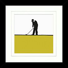 Buy Jacky Al-Samarraie - Golf Framed Print, 34 x 34cm Online at johnlewis.com