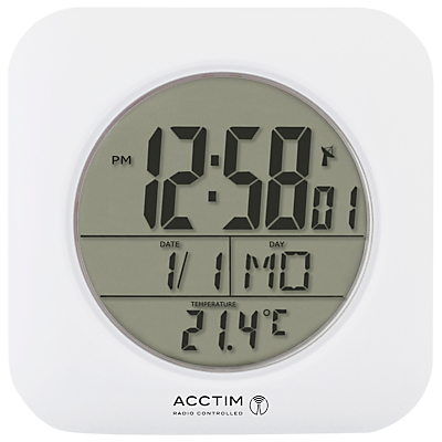 Acctim Bathroom Clock Wall Clock White