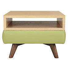 Buy John Lewis Barbican Semi-Aniline Leather Square Side Table Online at johnlewis.com