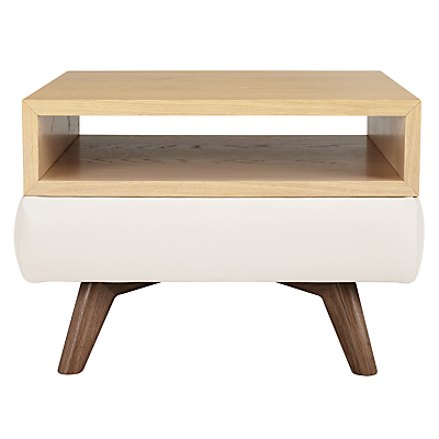 John Lewis Barbican Semi-Aniline Leather Square Side Table
