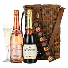 Buy Prosecco, Sparkling Rosé & Chocolate Champagne Truffles Hamper Online at johnlewis.com
