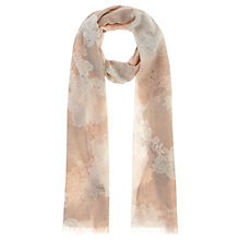 Buy Coast Lace Print Shimmer Scarf, Blush Online at johnlewis.com