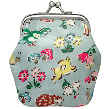 Buy Cath Kidston Children's Forest Animals Mini Clasp Purse, Aqua/Multi Online at johnlewis.com