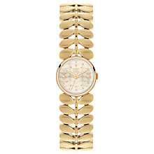 Buy Orla Kiely OK4022 Women's Laurel Bracelet Strap Watch, Gold Online at johnlewis.com
