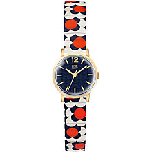 Buy Orla Kiely Women's Frankie Leather Strap Watch Online at johnlewis.com