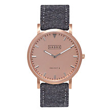 Buy Shore Projects W005S032 Unisex Salcombe Wool Strap Watch, Grey/Rose Gold Online at johnlewis.com