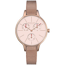 Buy Radley RY4248 Women's Soho Single Chronograph Mesh Bracelet Strap Watch, Rose Gold/Blush Online at johnlewis.com