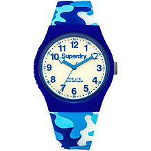 Buy Superdry Unisex Festival Silicone Strap Watch Online at johnlewis.com