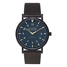 Buy Shore Projects Unisex Morecombe Leather Strap Watch Online at johnlewis.com