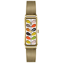 Buy Orla Kiely Women's Rectangular Stem Mesh Bracelet Strap Watch Online at johnlewis.com