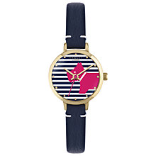 Buy Radley RY2376 Women's Love Radley Leather Strap Watch, Fig/Multi Online at johnlewis.com