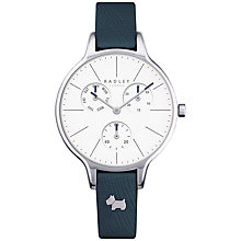Buy Radley RY2389 Women's Soho Single Chronograph Leather Strap Watch, Shingle/White Online at johnlewis.com