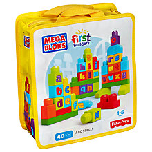 Buy Mega Bloks First Builders ABC Spell Online at johnlewis.com