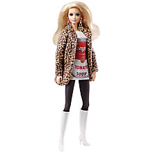 Buy Barbie Andy Warhol Campbells Soup Doll Online at johnlewis.com