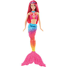 Buy Barbie Mermaid Rainbow Fashion Doll Online at johnlewis.com