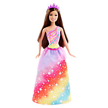 Buy Barbie Princess Rainbow Fashion Doll Online at johnlewis.com