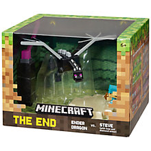 Buy Minecraft Ender Dragon vs Steve Figure Online at johnlewis.com