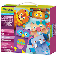 Buy Animal Paper Bag Puppets Kit Online at johnlewis.com