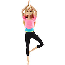 Buy Barbie Made to Move Doll, Pink Top Online at johnlewis.com