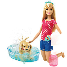 Buy Barbie Shake 'N' Splash Pup Online at johnlewis.com