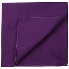 Buy HUGO by Hugo Boss Cotton Pocket Square, Dark Purple Online at johnlewis.com