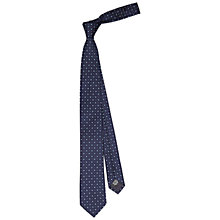 Buy HUGO by Hugo Boss Dot Square Silk Tie, Dark Blue Online at johnlewis.com