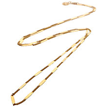 Buy Mirabelle Flat Curb Chain Necklace, Gold Online at johnlewis.com