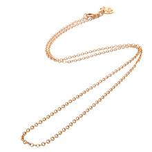 Buy Mirabelle Simple Round Link Chain, Gold Online at johnlewis.com