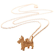 Buy Mirabelle Scottish Terrier Dog Pendant Chain Necklace, Gold Online at johnlewis.com
