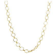 Buy Mirabelle Long Circle Chain Necklace, Gold Online at johnlewis.com
