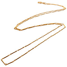 Buy Mirabelle Long Tula Chain Necklace, Gold Online at johnlewis.com