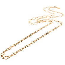 Buy Mirabelle Long Lozenge Chain Necklace, Gold Online at johnlewis.com