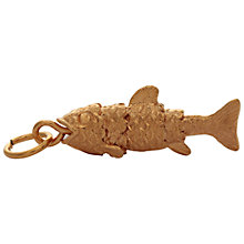 Buy Mirabelle Small Fish Charm, Gold Online at johnlewis.com