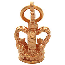 Buy Mirabelle Regal Crown Charm, Gold Online at johnlewis.com