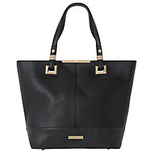 Buy Dune Denisha Base Panel Shopper Bag, Black Online at johnlewis.com